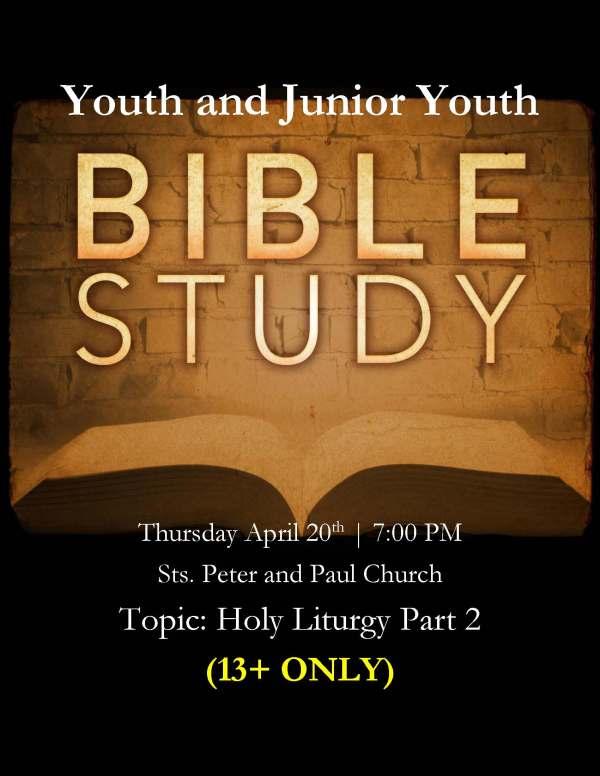 Bible Study 4-20-2017