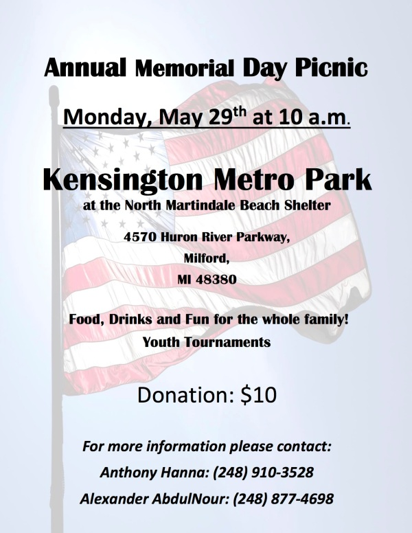 2017 Memorial Day Picnic Flyer PG1
